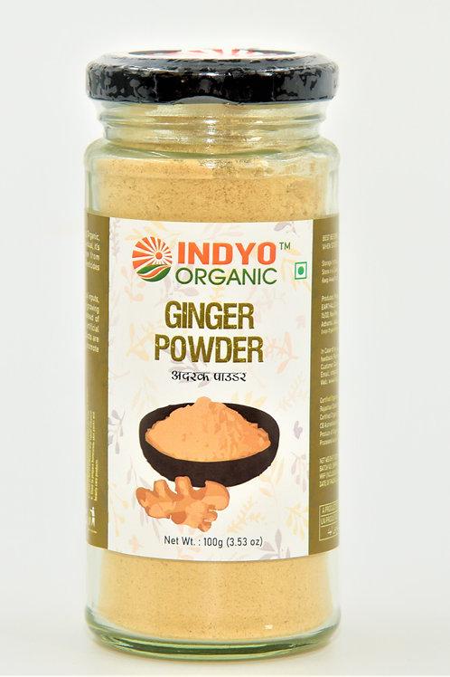 Ginger (Adrak) Powder - Indyo Organic - 100 gm