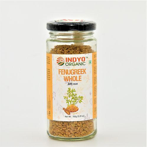 Fenugreek (Methi) Whole - Indyo Organic - 100 gm