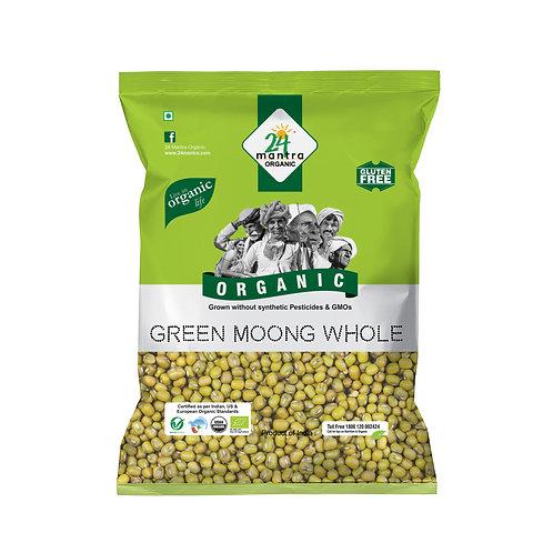 Moong Dal Whole Green - 24 Mantra Organic - 500 gm