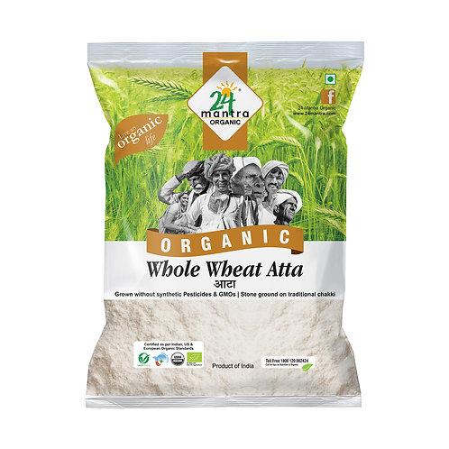 Premium Wholewheat Flour (Atta) - 24 Mantra Organic - 5 kg