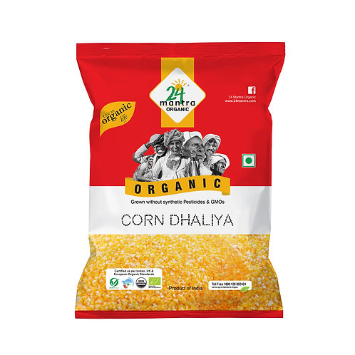Daliya Corn - 24 Mantra Organic - 500 gm