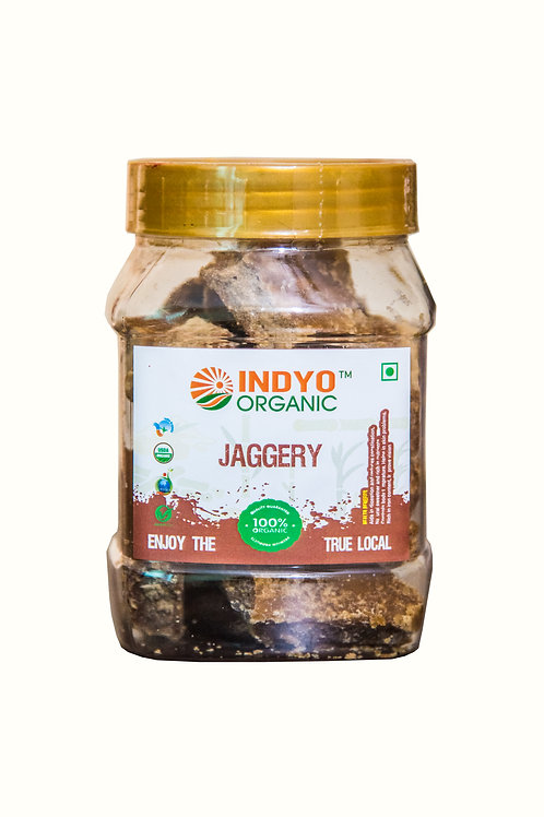 Jaggery (Gud) Whole - Indyo Organic - 500 gm