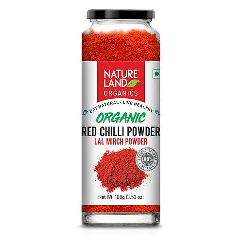 Red Chilli (Laal Mirch) Powder - Natureland Organics - 100 gm