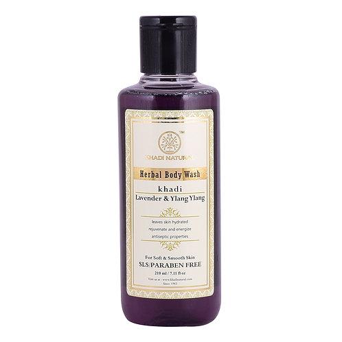 Lavender & Ylang Ylang Body Wash Sls & Paraben Free - Khadi Natural - 210 ml