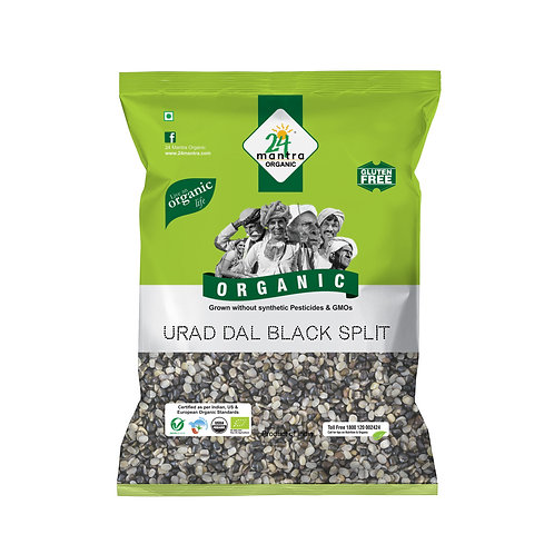 Urad Dal Split Black - 24 Mantra Organic - 500 gm