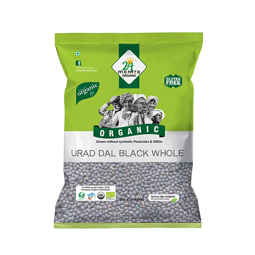 Urad Dal Whole Black - 24 Mantra Organic - 500 gm