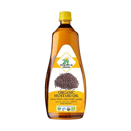 Mustard Oil Premium - 24 Mantra Organic - 1 L