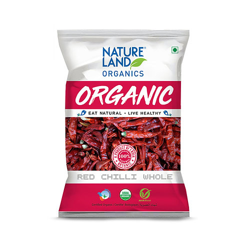 Red Chilli (Laal Mirch) Whole - Natureland Organics - 50 gm