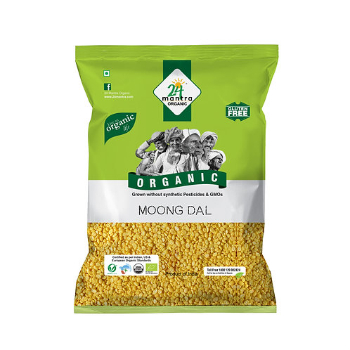 Moong Dal Whole - 24 Mantra Organic - 500 gm