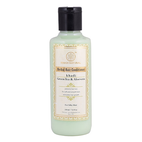 Green Tea Aloevera Hair Conditioner Sls & Paraben Free - Khadi Natural - 210 ml