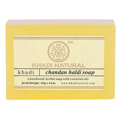 Chandan Haldi Soap - Khadi Natural - 125 gm