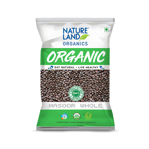 Masoor Dal Whole - Natureland Organics - 500 gm