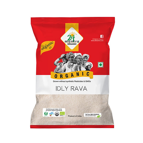 Idly Rava Flour (Atta) - 24 Mantra Organic - 500 gm