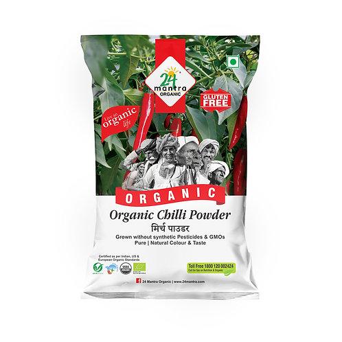 Red Chilli (Laal Mirch) Powder - 24 Mantra Organic - 100 gm