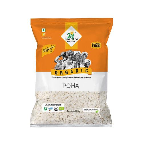 Poha (Flattened Rice) - 24 Mantra Organic - 500 gm