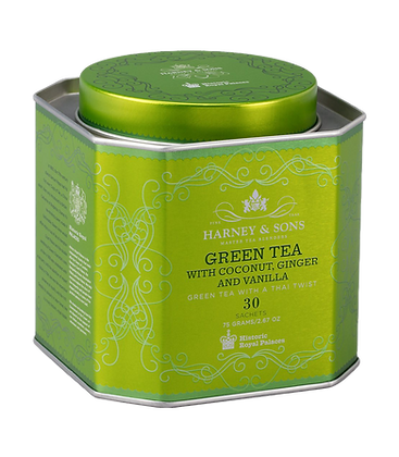 Green tea with coconut, ginger & vanilla
