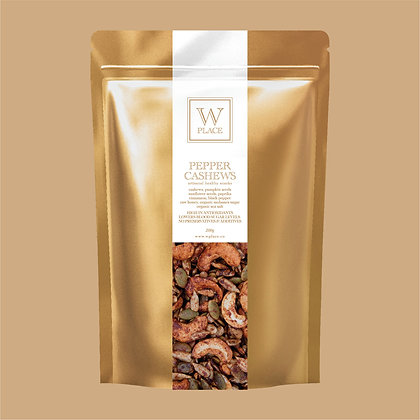 Pepper Cashews - by W Place - 200g
