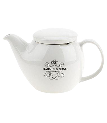 Harney & Sons tea pot with strainer