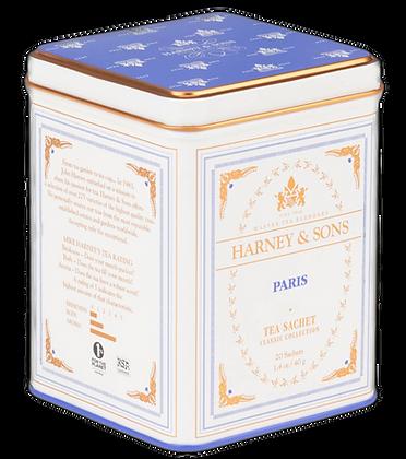 Paris tea Harney & Sons tin of 20 full leaf pyramid sachets
