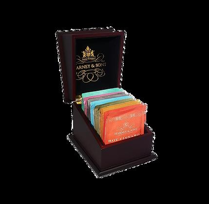 Wooden chest sampler featuring 15 tea bags
