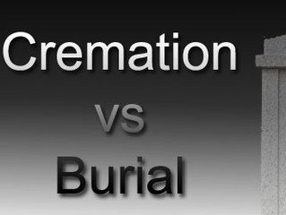 Cremation or Burial