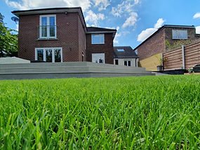 Composite Decking and grass