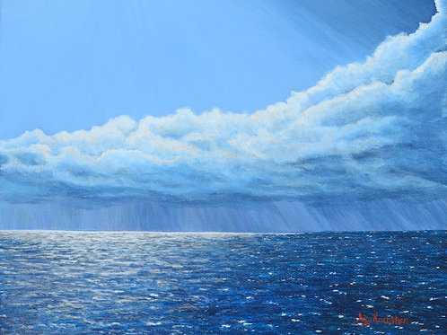 """""""Rain Is Coming"""" Acrylics on Canvas Painting"""