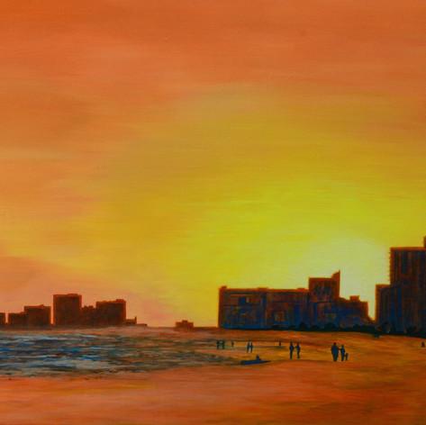 Winter Sunset N Myrtle Beach SC