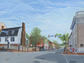 "Limited-Edition Giclee of ""King Street Old Town Alexandria"""