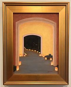 Painting of a Southwestern Style doorway into the Festival of Lights, by Aicy Karbstein