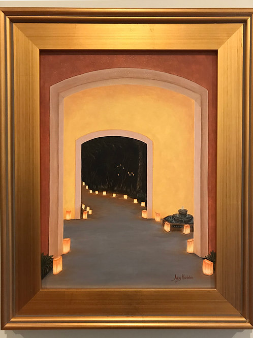 """Doorway To The Festival Of Lights"" Acrylics on Canvas Painting"