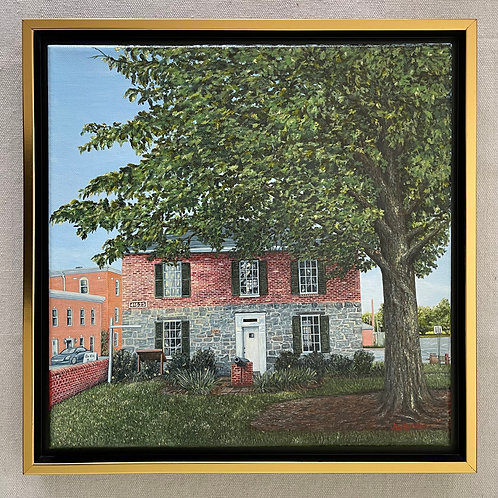 """Old Jail Museum in Leonardtown"" Acrylics on Canvas Painting"