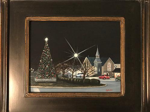 """Christmastime in Leonardtown"" Acrylics on Canvas Painting"