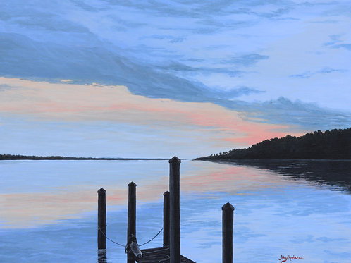 """Breton Bay"" Acrylics on Canvas Panel Painting"