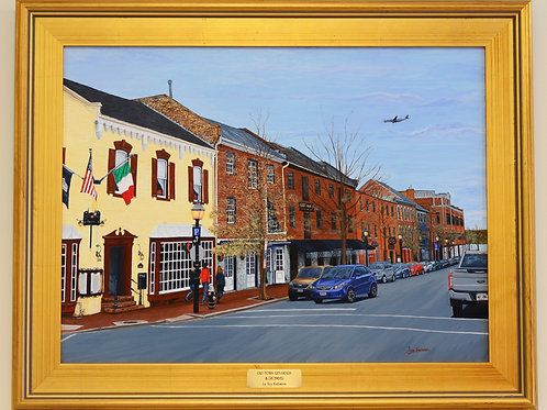 """Old Town Alexandria in December"" Acrylics on Canvas Painting"