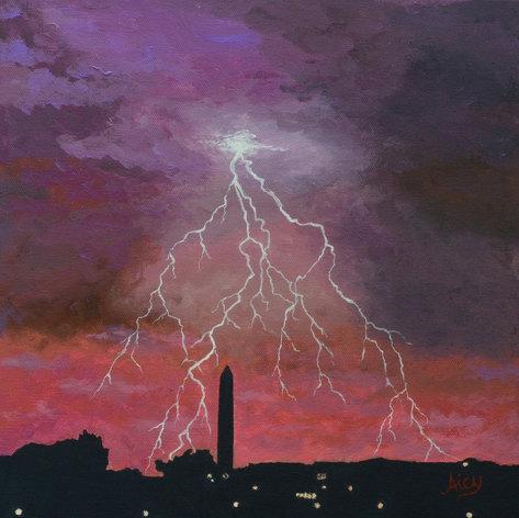 Lightning over Washington