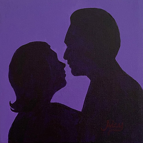 """The Kiss"" Acrylics on Canvas Painting"