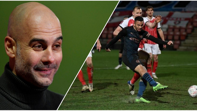 Guardiola hails his own genius after beating League Two club Cheltenham