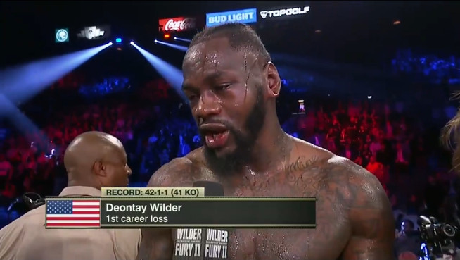 """Wilder: """"No excuses, but I hurt my leg, my arm, my back, and I broke my ass getting into my rin"""