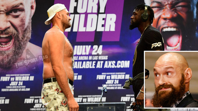 Fury-Wilder 3 to be postponed due to outbreak of BS in Fury's camp