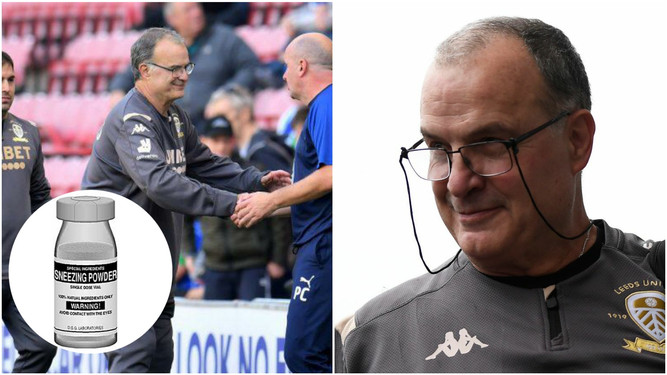 Bielsa planning to attack opponents with sneezing powder