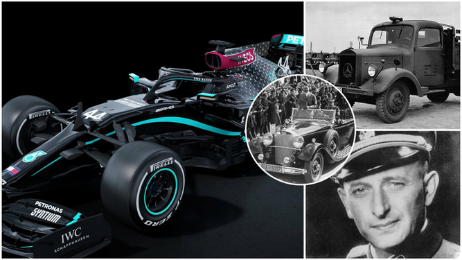 """Mercedes: """"We hope this black car will finally erase our Nazi history"""""""
