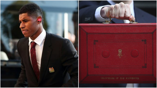 Marcus Rashford replaces Rishi Sunak as Chancellor of the Exchequer