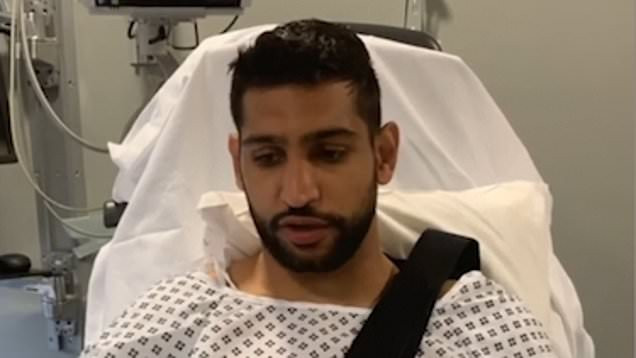 Amir Khan recovering in hospital after being KO'd by Storm Ciara