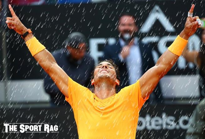 Nadal summons rain to beat Zverev in Rome