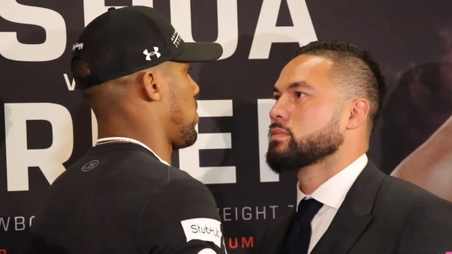 Terrified Joseph Parker hands WBO belt to Anthony Joshua