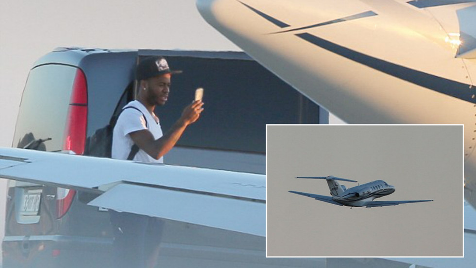 Sterling confirms commitment to Man City as he boards plane to Madrid