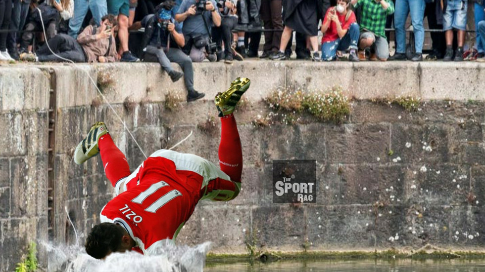 Mesut Ozil mistaken for statue, thrown in River Lea