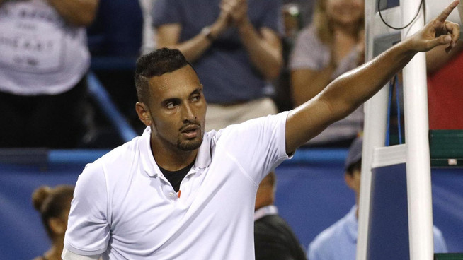 Nick Kyrgios fined by ATP for trying too hard in Washington