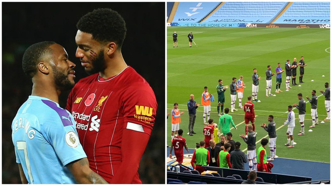 Sterling viciously ATTACKS Joe Gomez during guard of honour